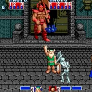 Gilius Thunderhead vs death Adder golden axe Sega genesis arcade Sega mega drive