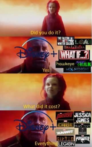 Memes Disney+ Netflix marvel shows