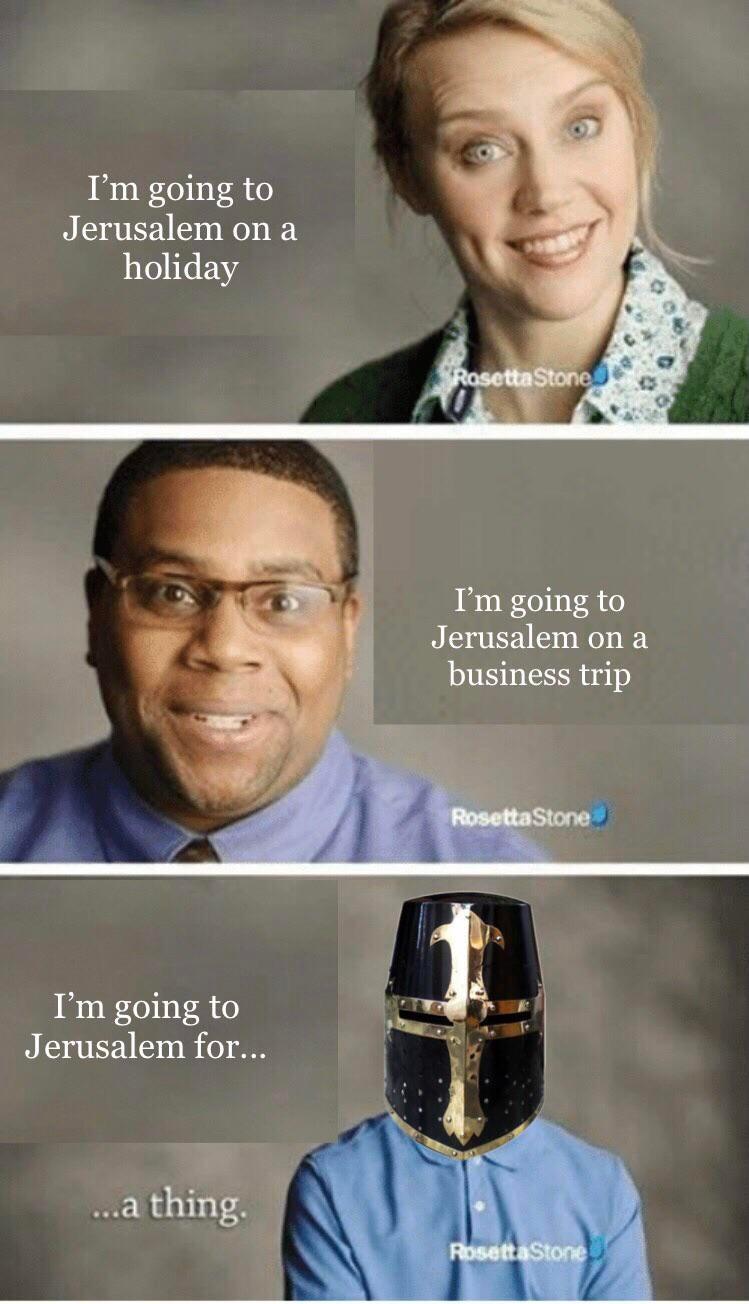 Memes The first crusade Jerusalem