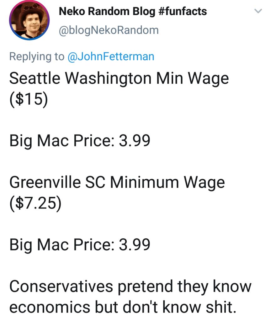 Memes Political big Mac minimum wage Seattle Washington