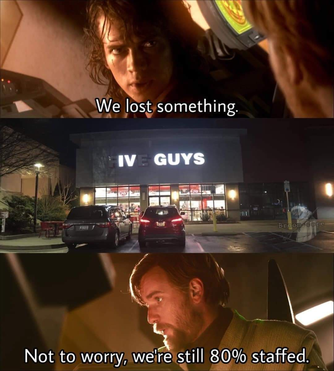 Memes Five guys restaurant Star Wars