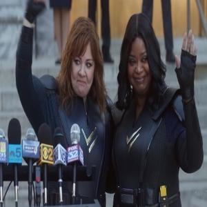 Emily Stanton and Lydia Berman Chicago press conference thunder force Netflix Octavia Spencer Melissa Mccarthy