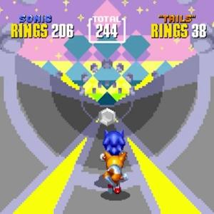 Silver chaos emerald Sonic the Hedgehog 2 Special Stage Sega genesis Sega mega drive