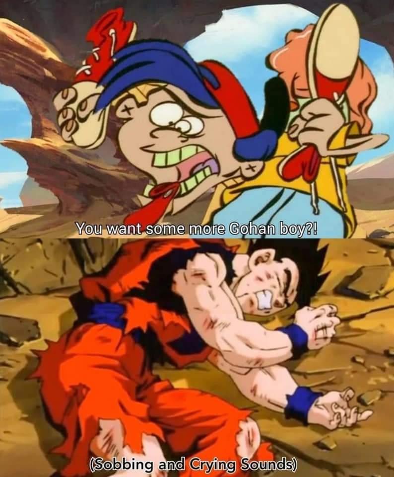 Memes gohan vs rolf Dragon ball Z ed edd and Eddie