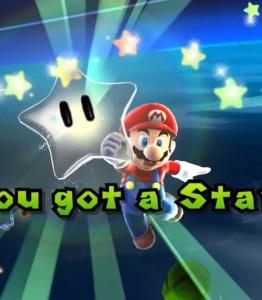 Mario getting star Dino piranha boss battle Super Mario Galaxy Nintendo Wii