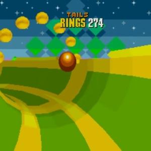 Tails jumping special stage Sonic the Hedgehog 2 Sega genesis Sega mega drive