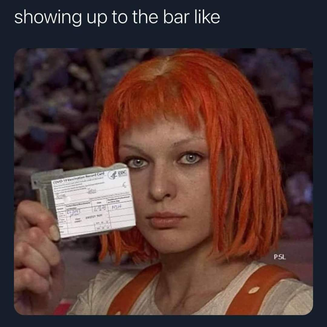 Memes Showing her COVID-19 vaccination card