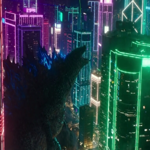 Godzilla screaming in Tokyo Godzilla vs. Kong Warner Brothers