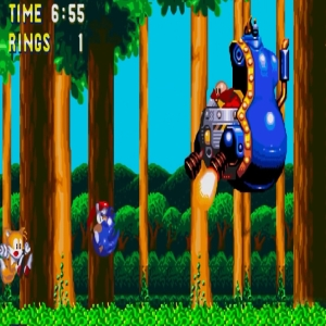 Jet Mobile boss Dr Eggman sonic & Knuckles Sega Genesis Sega Mega drive
