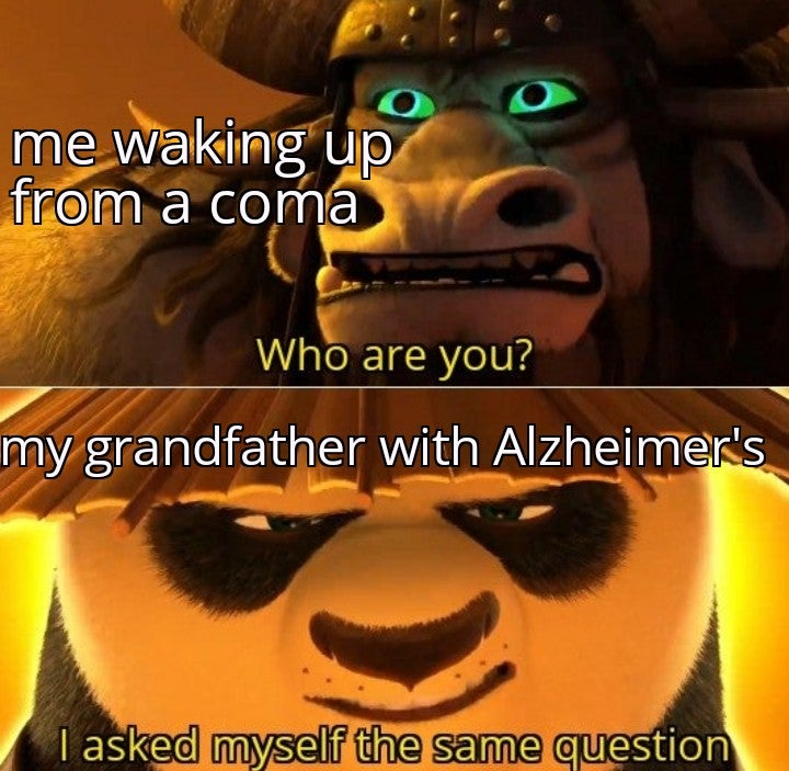 Memes Grandfather with Alzheimer's