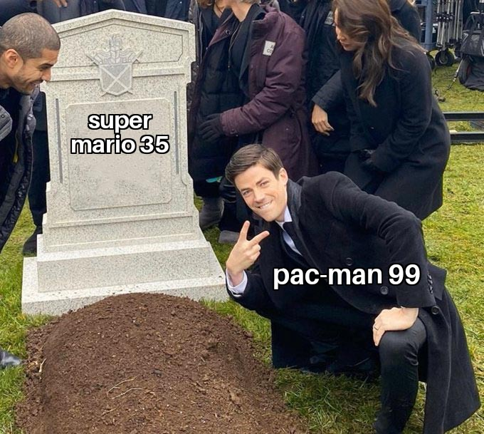 Memes Pac-Man 99 versus super Mario brothers 35