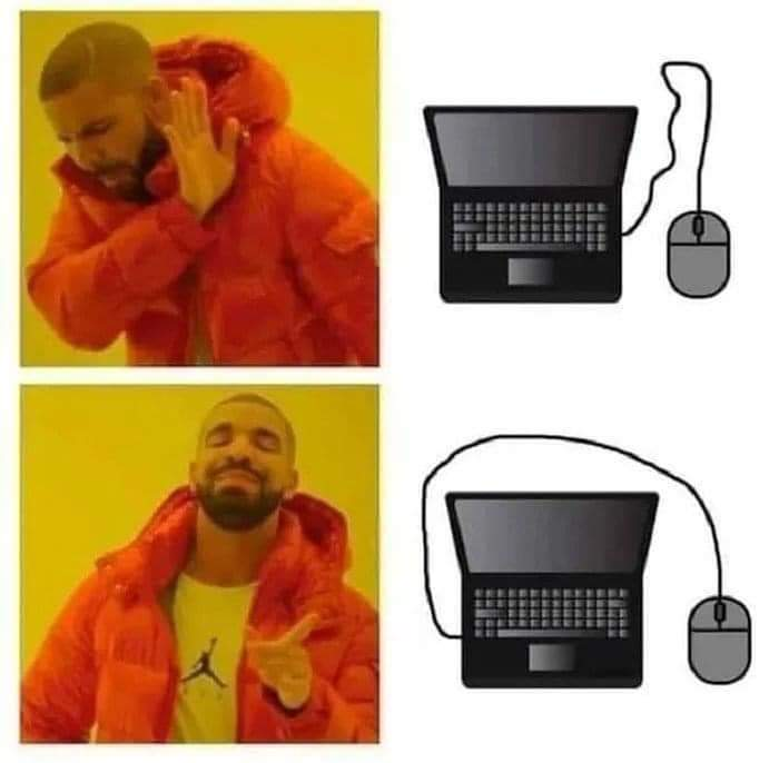 Memes Where to put mouse on laptop