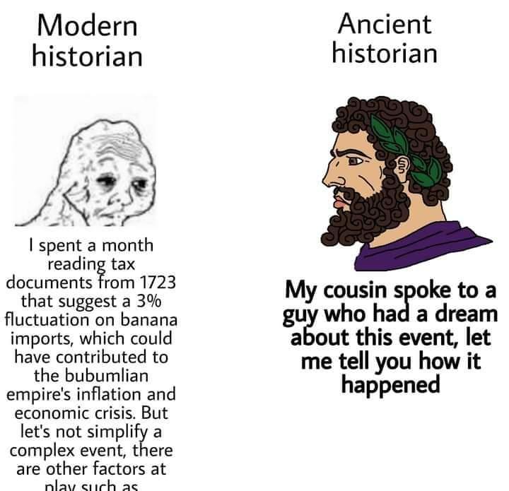 Memes Ancient historians