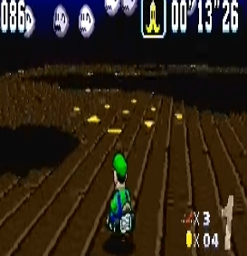 Banana peel ghost Valley 2 super Mario Kart snes Nintendo