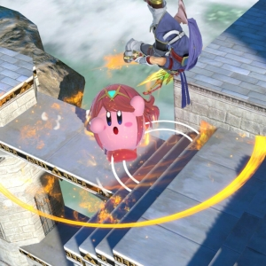 Pyra Kirby flame sword VS Roy super Smash Bros ultimate Nintendo Switch