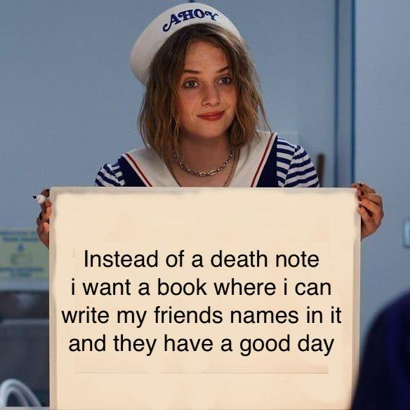 Memes Death note opposite day