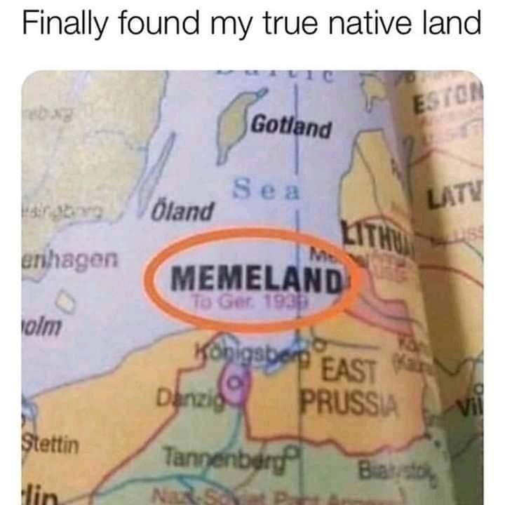 Memes Memeland Germany map