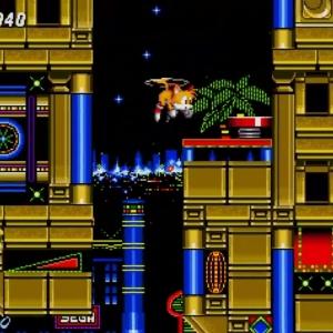 Tails flying casino zone Sonic the Hedgehog 2 Sega genesis Sega mega drive
