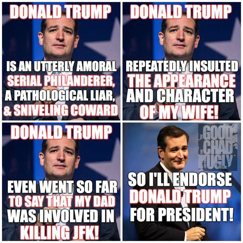 Memes Ted Cruz endorses Donald Trump for president