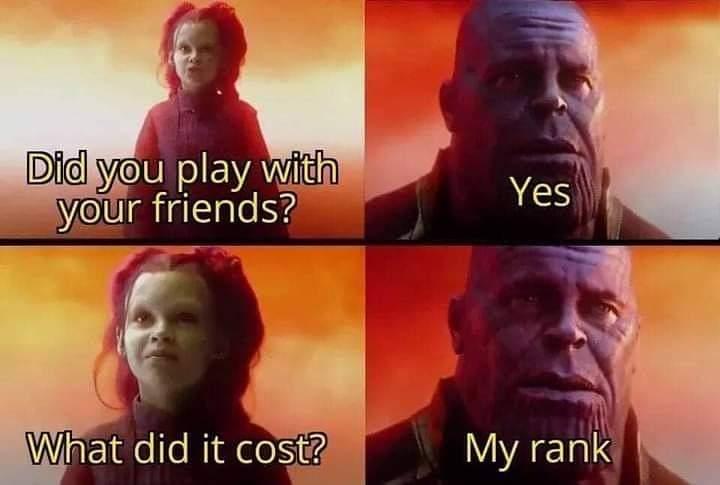Memes Losing Rank online games