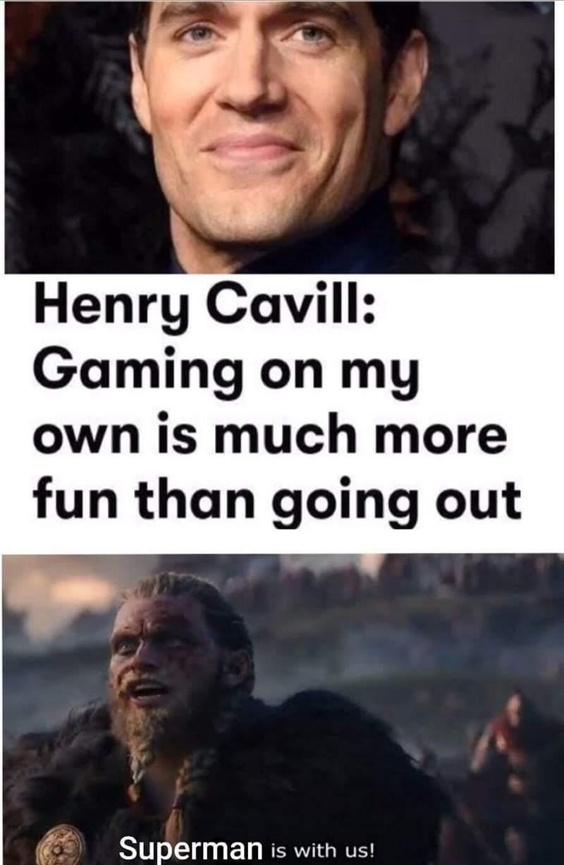 Memes Henry Cavill gamer