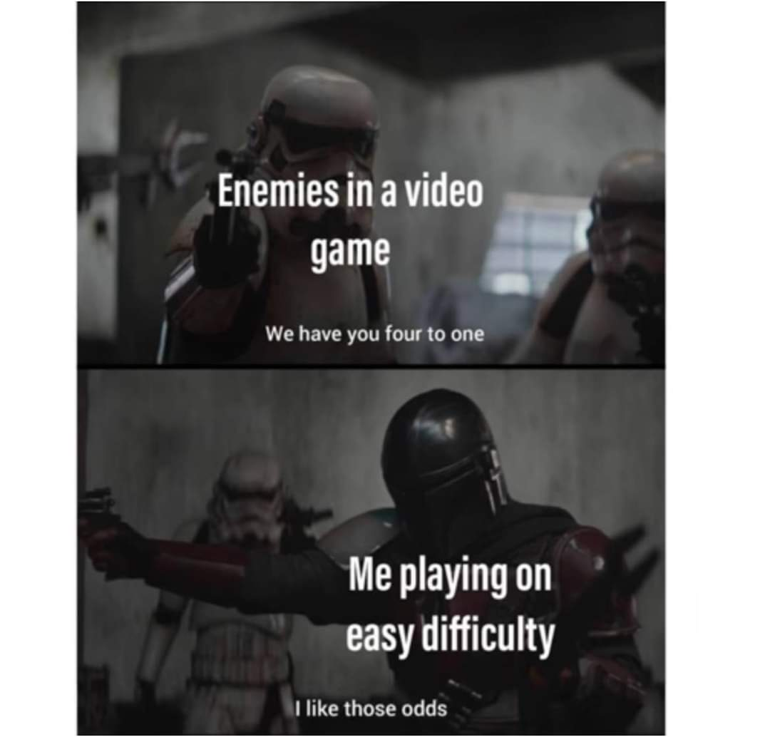 Memes Easy difficulty video game