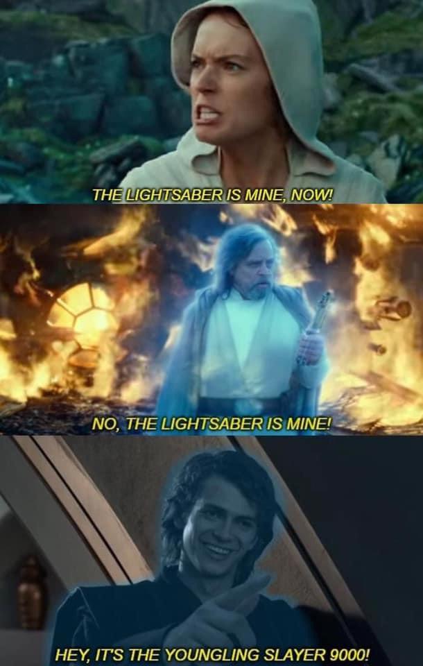 Memes Star Wars light sabers