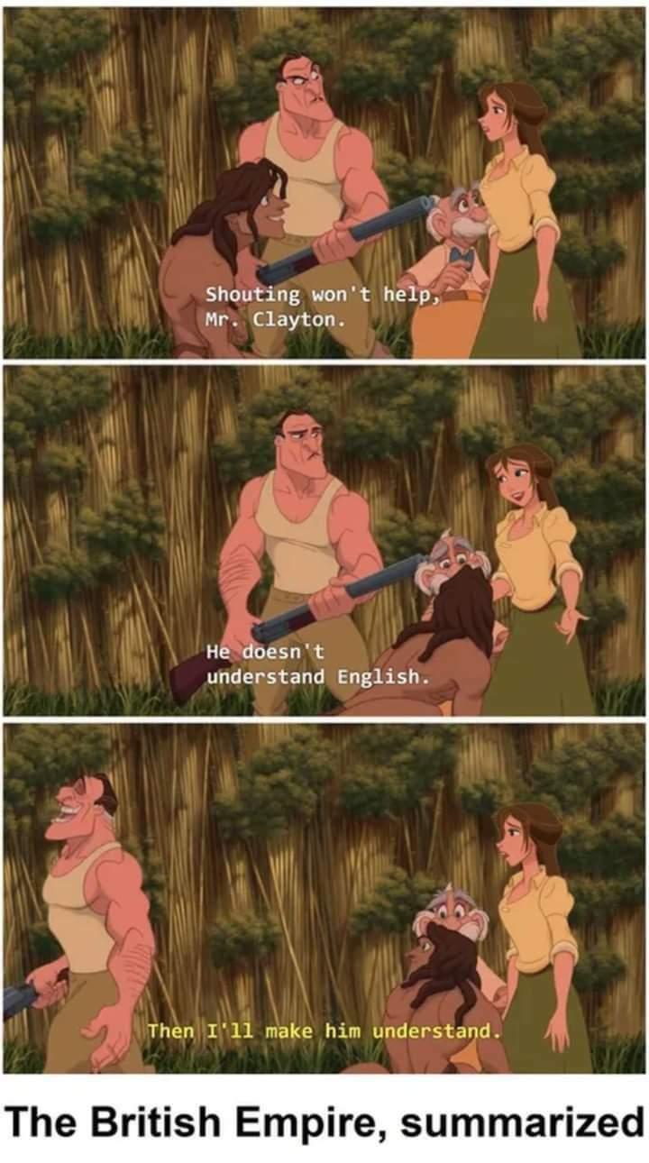 Memes Disney Tarzan British Empire