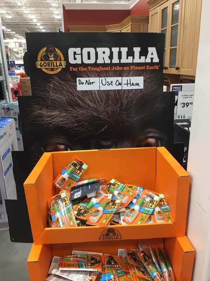 Memes Gorilla glue do not use on hair