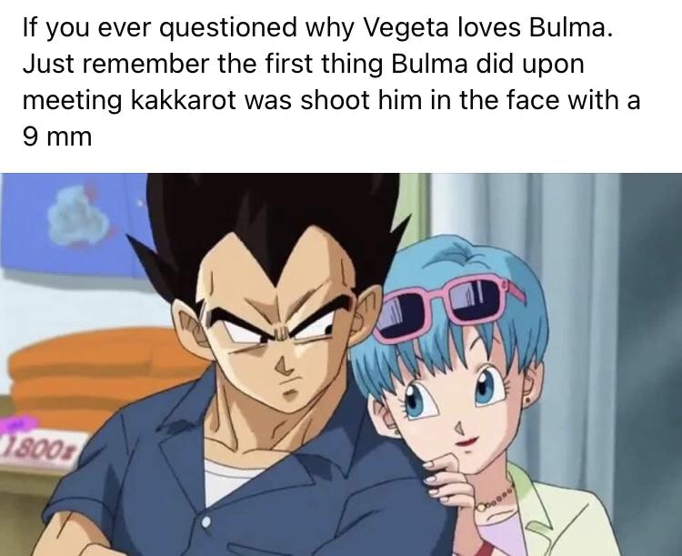Memes Dragon Ball Z Vegeta and Bulma