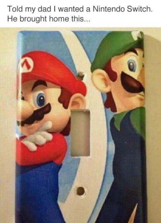 Memes Nintendo light switch