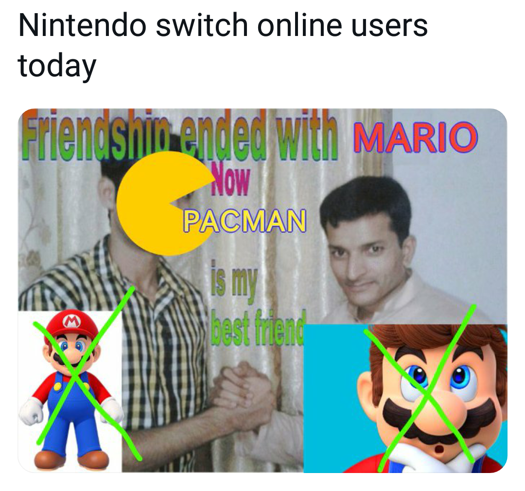Memes Pac-Man versus Mario