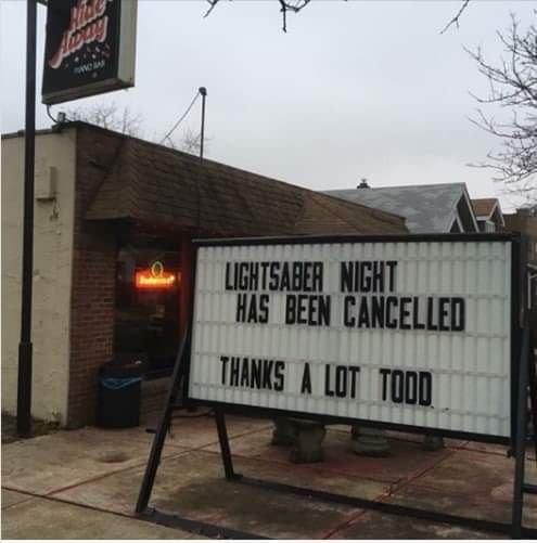 Memes Light saber night has been canceled thanks a lot Todd