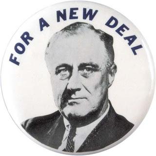 FDR new deal button Franklin Delano Roosevelt