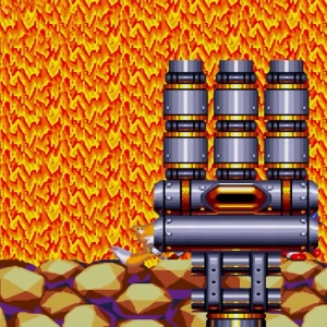Heat Arms boss sonic & Knuckles Sega Genesis Sega Mega drive