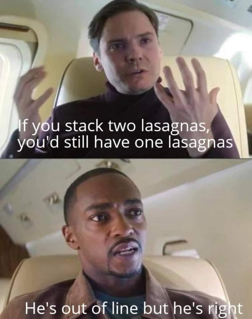 Memes Baron von zemo Falcon and the Winter soldier lasagnas