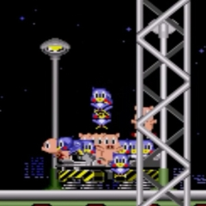 Star Light Zone boss freed animals flicky and pigs sonic the Hedgehog 1 Sega genesis Sega mega drive