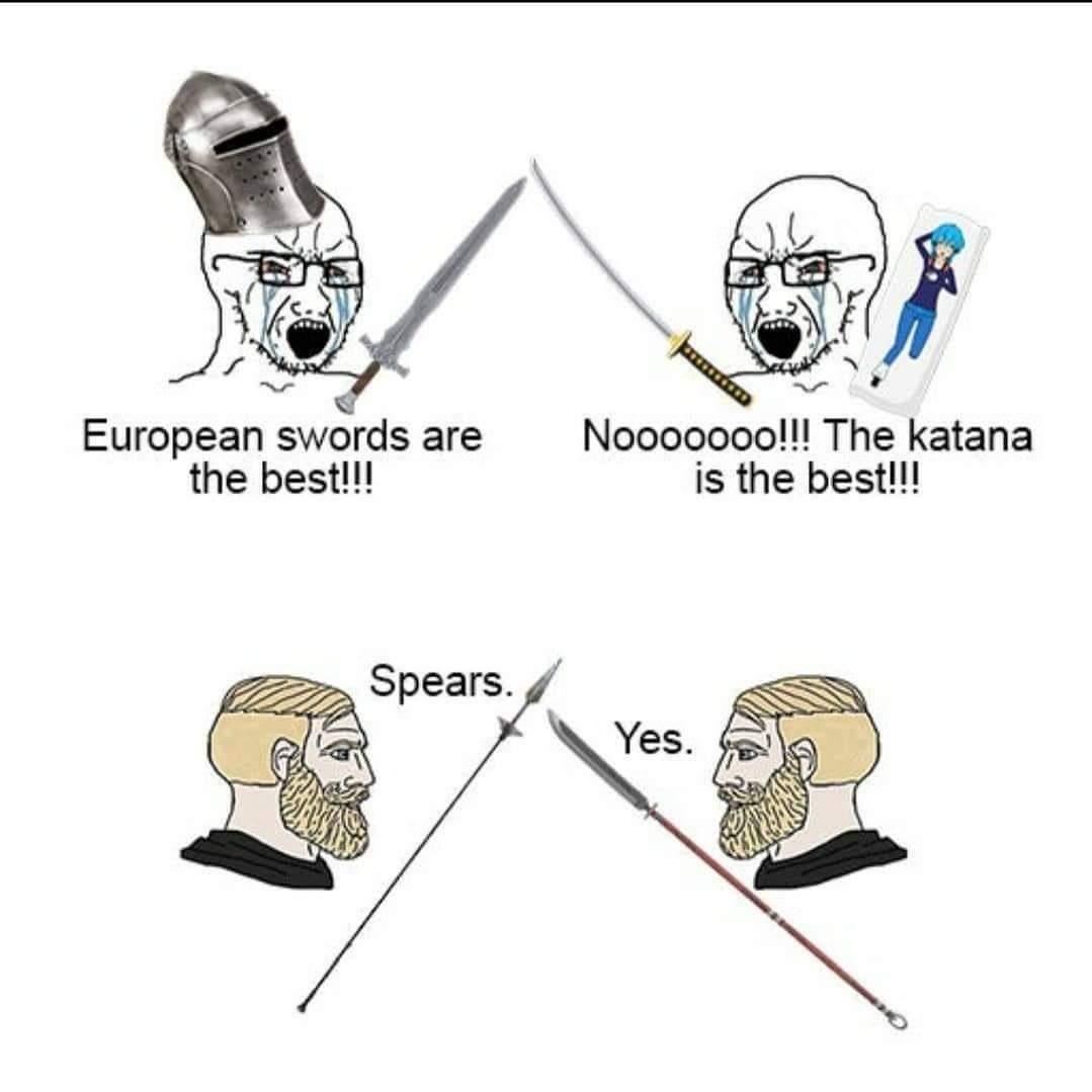 Memes European swords versus katanas