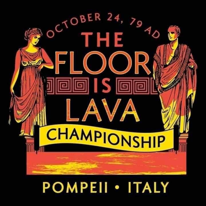 Memes The floor is lava Pompeii Italy