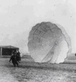 Man using parachute