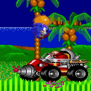 Drill Eggman boss Sonic the Hedgehog 2 Sega genesis Sega mega drive