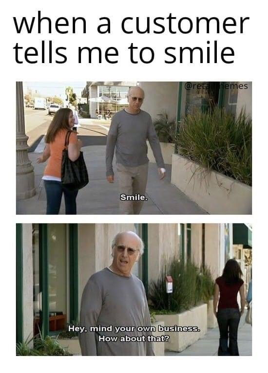Memes Larry David mind your own business