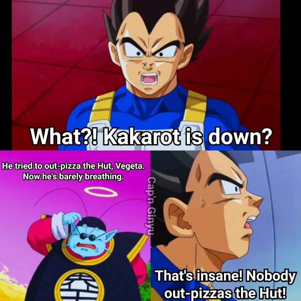 Memes King kai Dragon Ball vegeta Pizza Hut
