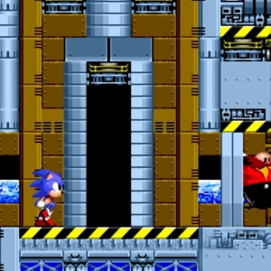 Dr Eggman outruns Sonic Sonic the Hedgehog 2 Sega genesis Sega mega drive