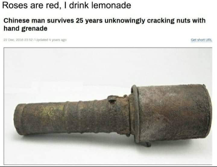 Memes Chinese man hand grenade