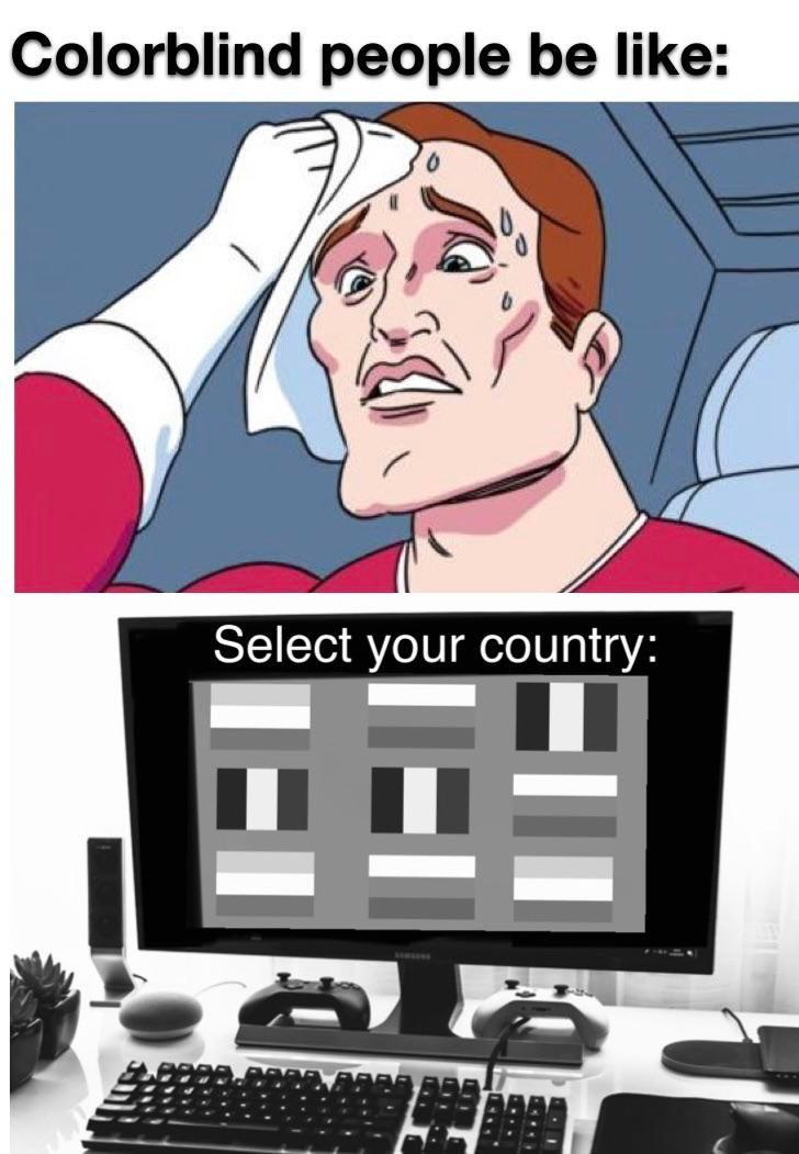 Memes Color blind people