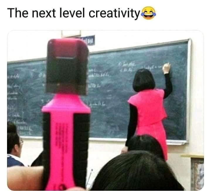 Memes Pink highlighter marker teacher
