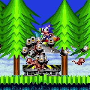 Animals freed Bald eagles and monkeys Sonic the Hedgehog 2 Sega genesis Sega mega drive