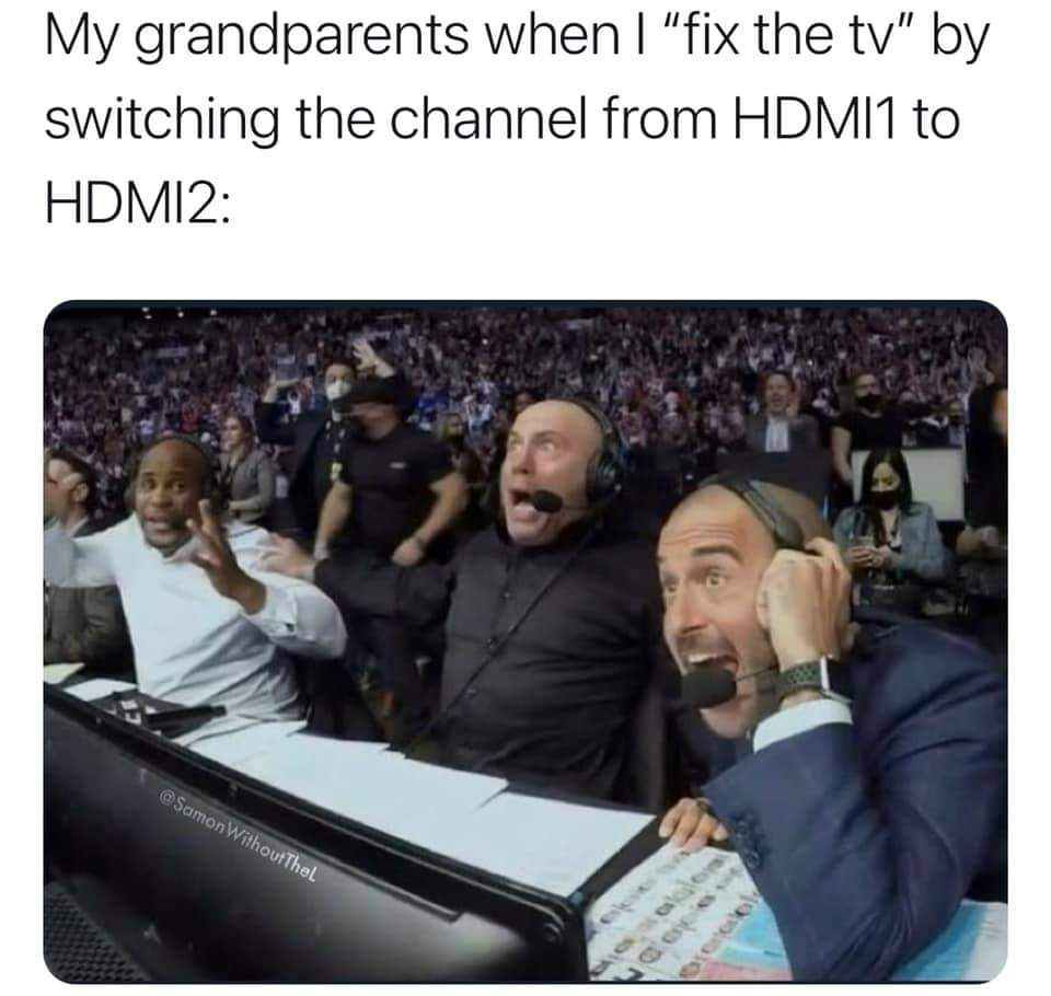 Memes Fixing your grandparents television