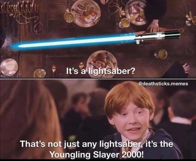Memes Harry potter Star Wars light saber